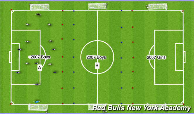 Football/Soccer Session Plan Drill (Colour): Liberty 3:30-5:30p