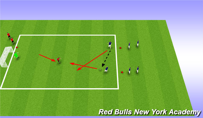 Football/Soccer Session Plan Drill (Colour): Progressed Small Sided Activity