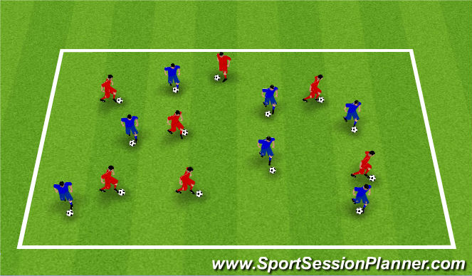 Football/Soccer Session Plan Drill (Colour): Step 2: Warm Up