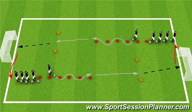 Football/Soccer Session Plan Drill (Colour): Ball Control Warmup