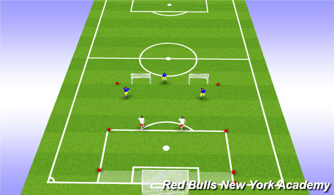 Football/Soccer Session Plan Drill (Colour): 3 v 2 Handball