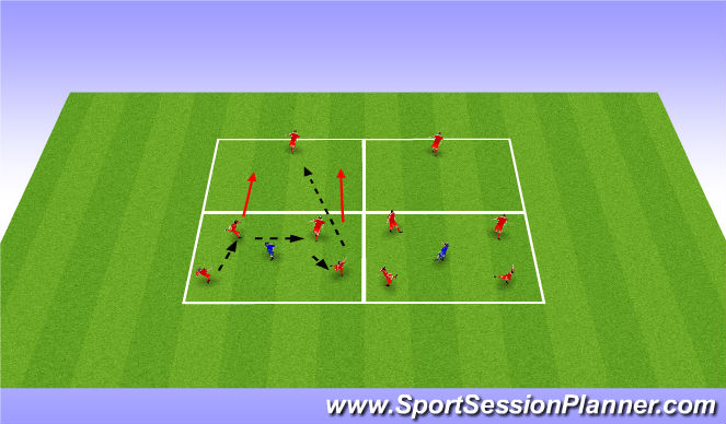 Football/Soccer Session Plan Drill (Colour): Rondos w/ Target