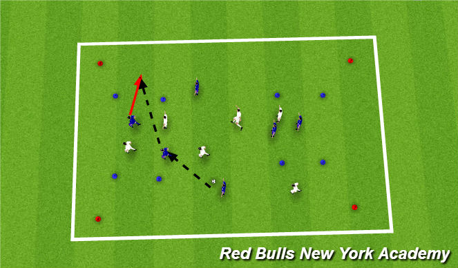 Football/Soccer Session Plan Drill (Colour): expanded sided activity