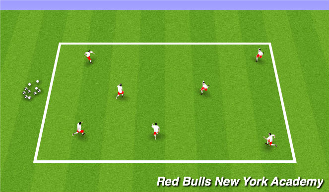 Football/Soccer Session Plan Drill (Colour): Ball Mastery/SAQ