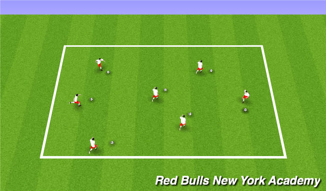 Football/Soccer Session Plan Drill (Colour): Warm Up: Ball Mastery