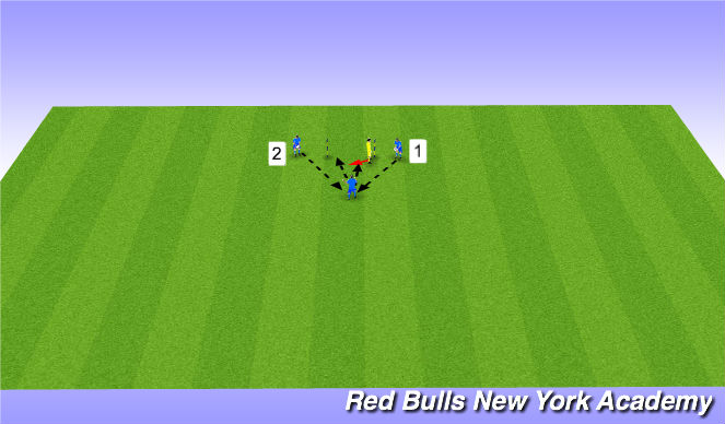 Football/Soccer Session Plan Drill (Colour): Reaction Saves