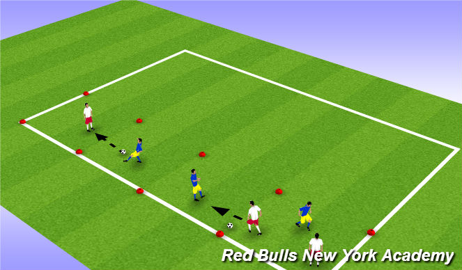 Football/Soccer Session Plan Drill (Colour): Warmup 2