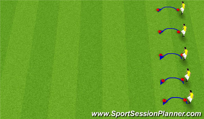 Football/Soccer Session Plan Drill (Colour): Fitness Challenge - Step Jumps