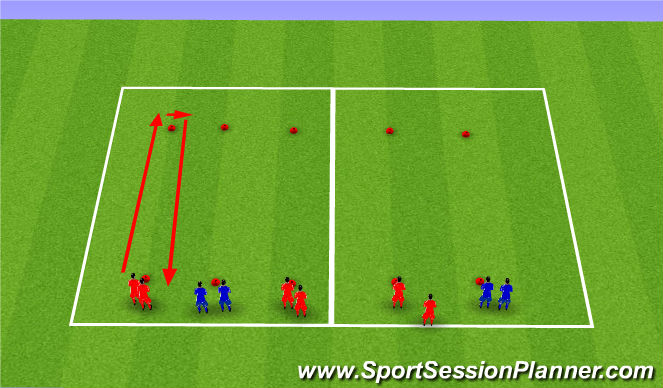 Football/Soccer Session Plan Drill (Colour): Relays