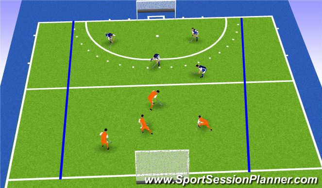 Hockey Session Plan Drill (Colour): Numbers Mini Match