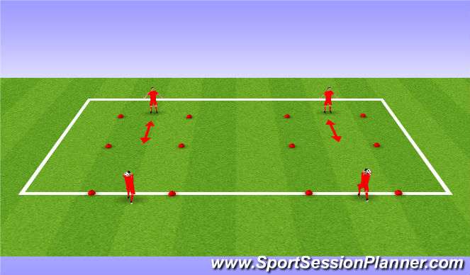 Football/Soccer Session Plan Drill (Colour): BU 11 throw in pass & receive