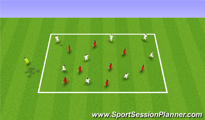 Football/Soccer Session Plan Drill (Colour): 21