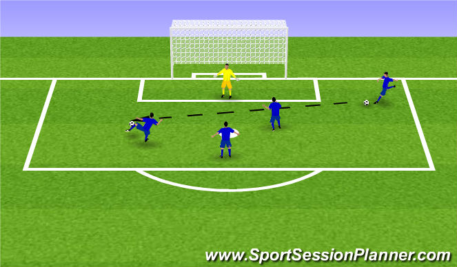 Football/Soccer Session Plan Drill (Colour): '60 Seconds'