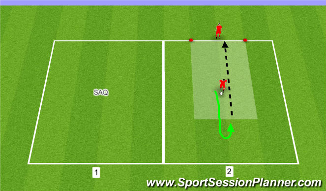 Football/Soccer Session Plan Drill (Colour): SAQ/RECHNICAL