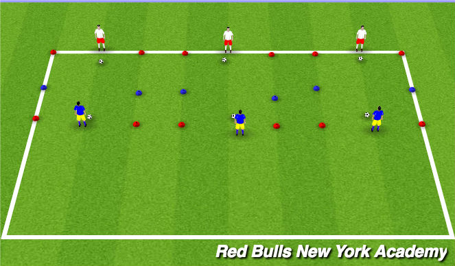 Football/Soccer Session Plan Drill (Colour): Technical U/L