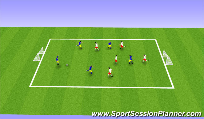 Football/Soccer Session Plan Drill (Colour): Free Play