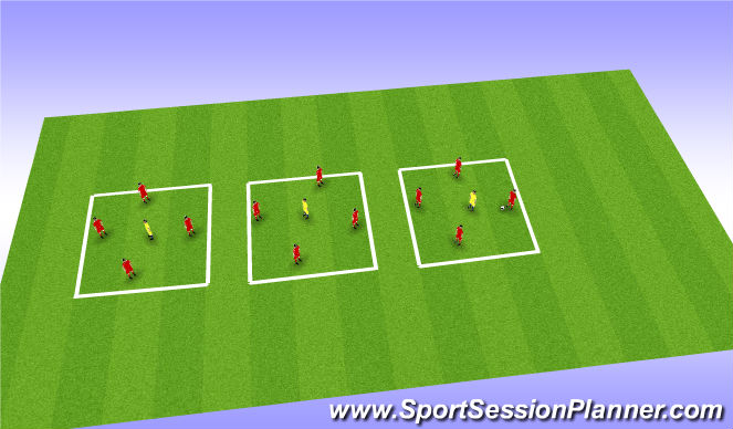 Football/Soccer Session Plan Drill (Colour): Possession - Skill Intro