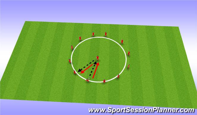 Football/Soccer Session Plan Drill (Colour): Possession - Skill Intro