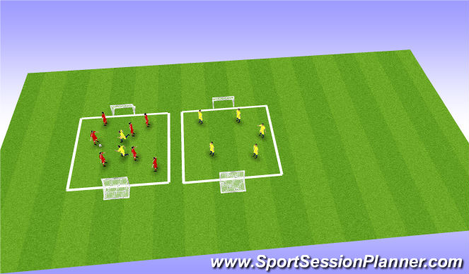 Football/Soccer Session Plan Drill (Colour): Possession - Skill Training