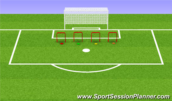 Football/Soccer Session Plan Drill (Colour): Oefening 3/4