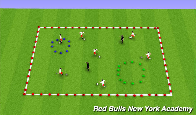 Football/Soccer Session Plan Drill (Colour): Space Tag