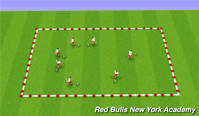 Football/Soccer Session Plan Drill (Colour): Space Tag Gotcha!