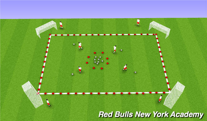 Football/Soccer Session Plan Drill (Colour): Space Treasure Hunt
