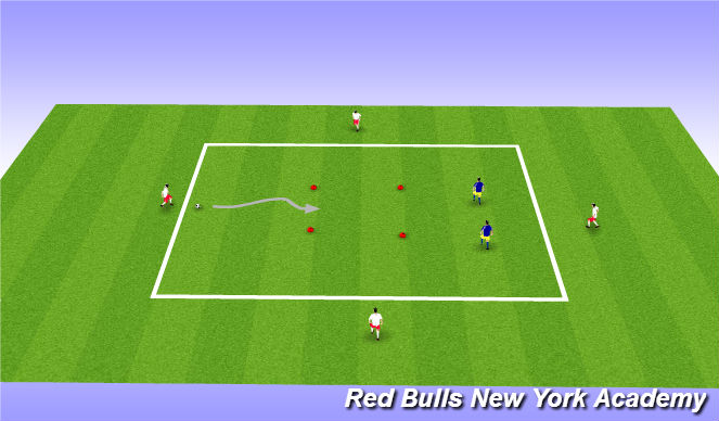 Football/Soccer Session Plan Drill (Colour): intro to topic