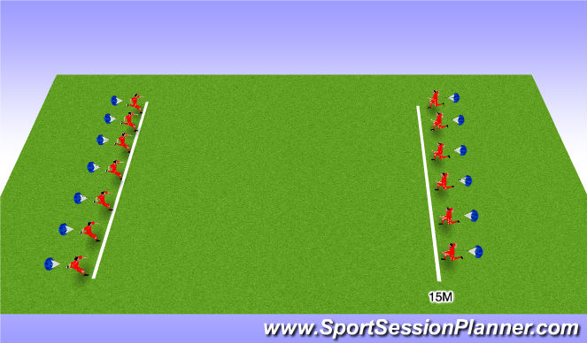 Football/Soccer Session Plan Drill (Colour): Sprints with Little Rest - Step 8
