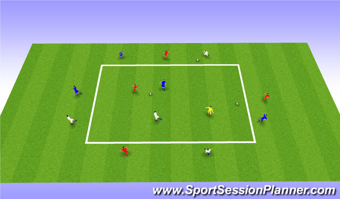 Football/Soccer Session Plan Drill (Colour): Pass / Turn / Pass