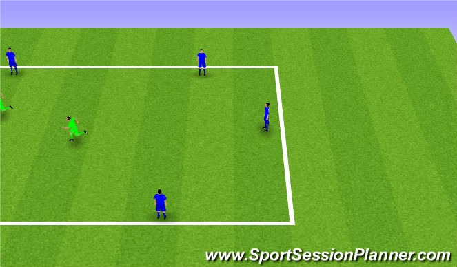 Football/Soccer Session Plan Drill (Colour): 6v2 Rondos