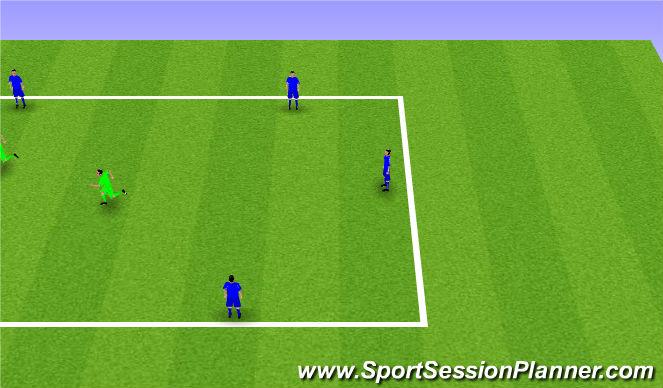 Football/Soccer Session Plan Drill (Colour): 6v2 Rondos