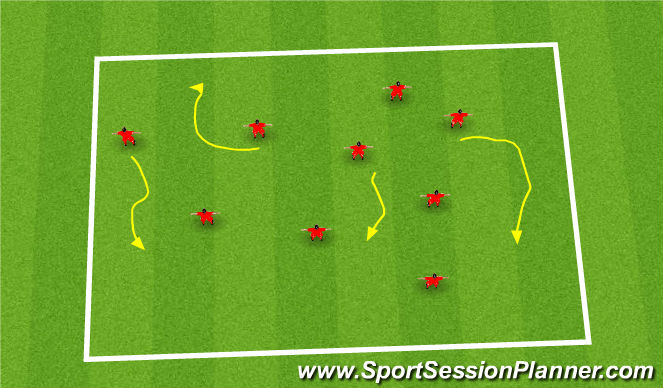 Football/Soccer Session Plan Drill (Colour): Fun Games - King of the Ring