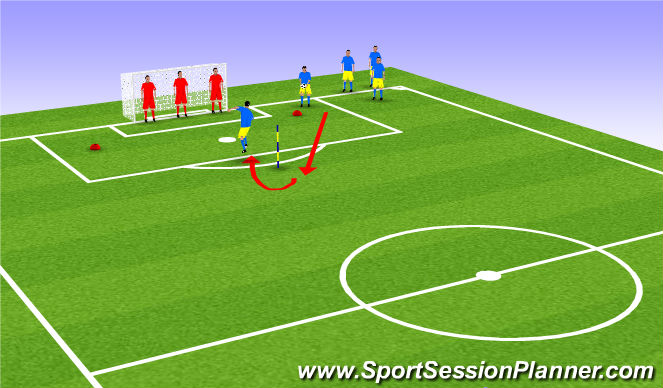 Football/Soccer Session Plan Drill (Colour): Attacking Heading Fun Session