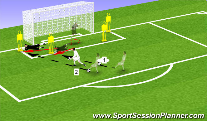 Football/Soccer Session Plan Drill (Colour): Screen 2