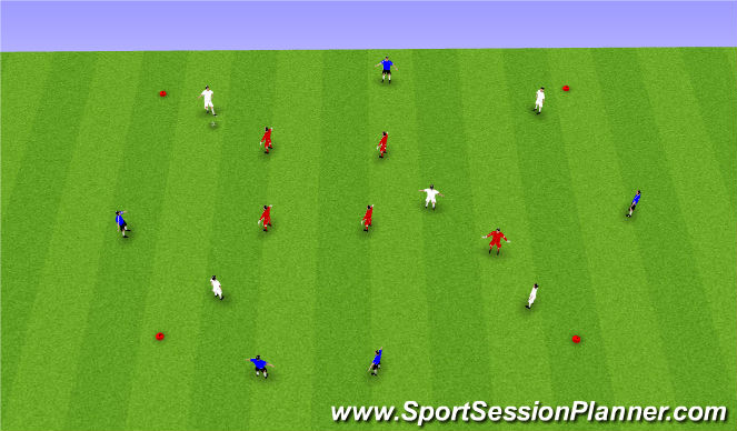Football/Soccer Session Plan Drill (Colour): 3 Teams possession