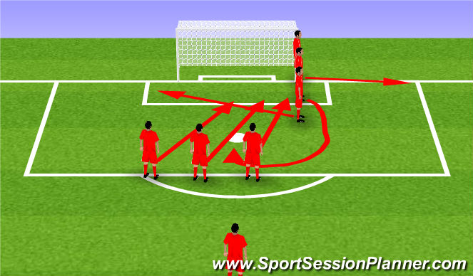 Football/Soccer Session Plan Drill (Colour): CORNER 1 RS