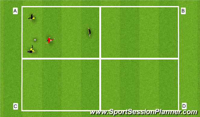 Football/Soccer Session Plan Drill (Colour): Posession under pressure