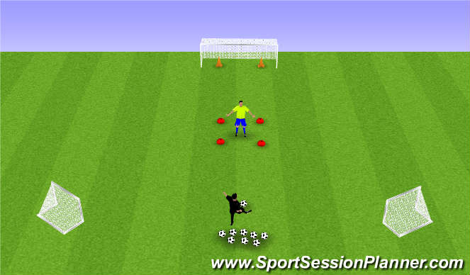 Football/Soccer Session Plan Drill (Colour): Hotfoot