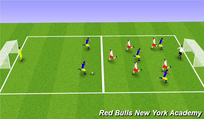 Football/Soccer Session Plan Drill (Colour): 6v6 Conditioning Game (Overload Fitness)