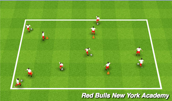 Football/Soccer Session Plan Drill (Colour): Super Hero Cities