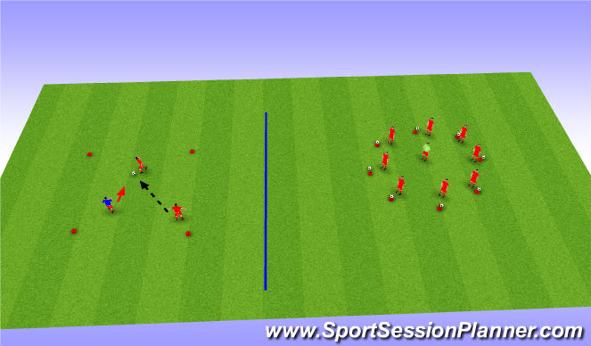 Football/Soccer Session Plan Drill (Colour): BU 11 Shielding