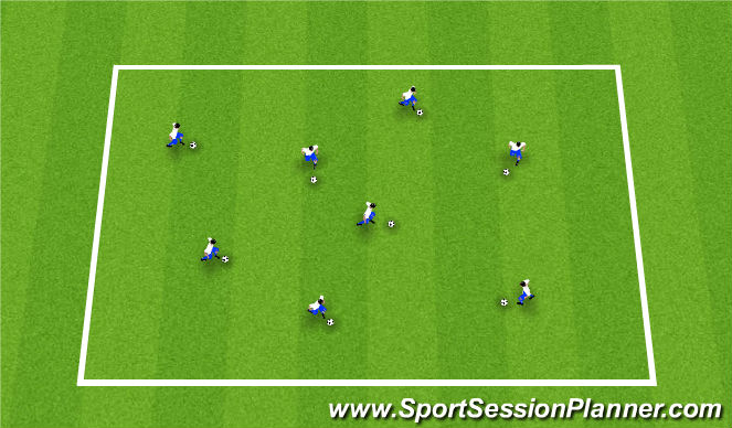 Football/Soccer Session Plan Drill (Colour): Drible and Moves