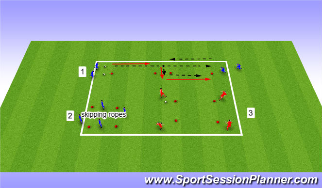 Football/Soccer Session Plan Drill (Colour): Ball control  / passing