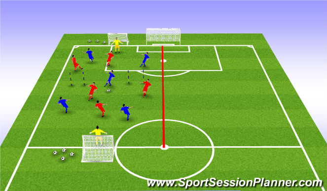 Football/Soccer Session Plan Drill (Colour): SSG- transition game