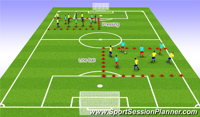 Football/Soccer Session Plan Drill (Colour): SSG for Fitness