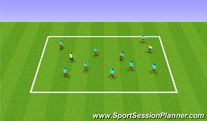 Football/Soccer Session Plan Drill (Colour): Warm-up/SAQ