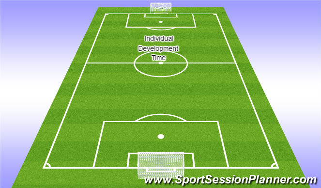 Football/Soccer Session Plan Drill (Colour): Development & Cool Down