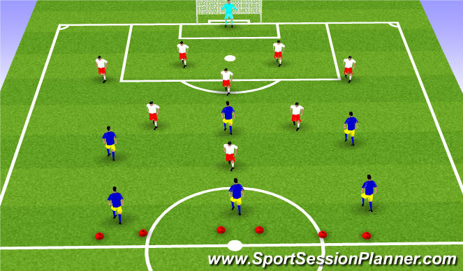 Football/Soccer Session Plan Drill (Colour): SSG-Scrimmage