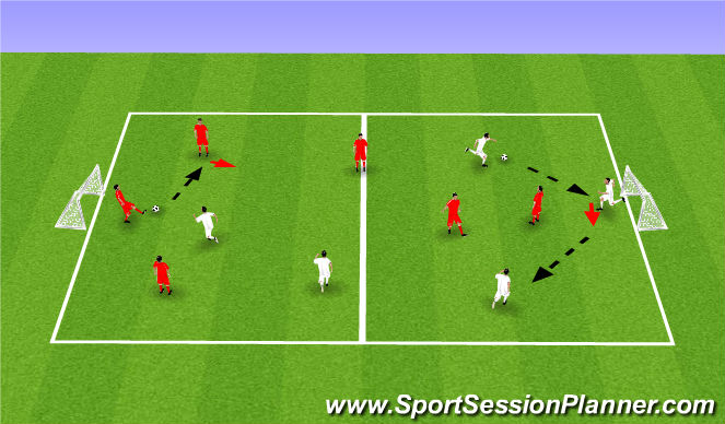 Football/Soccer Session Plan Drill (Colour): 4v1/2